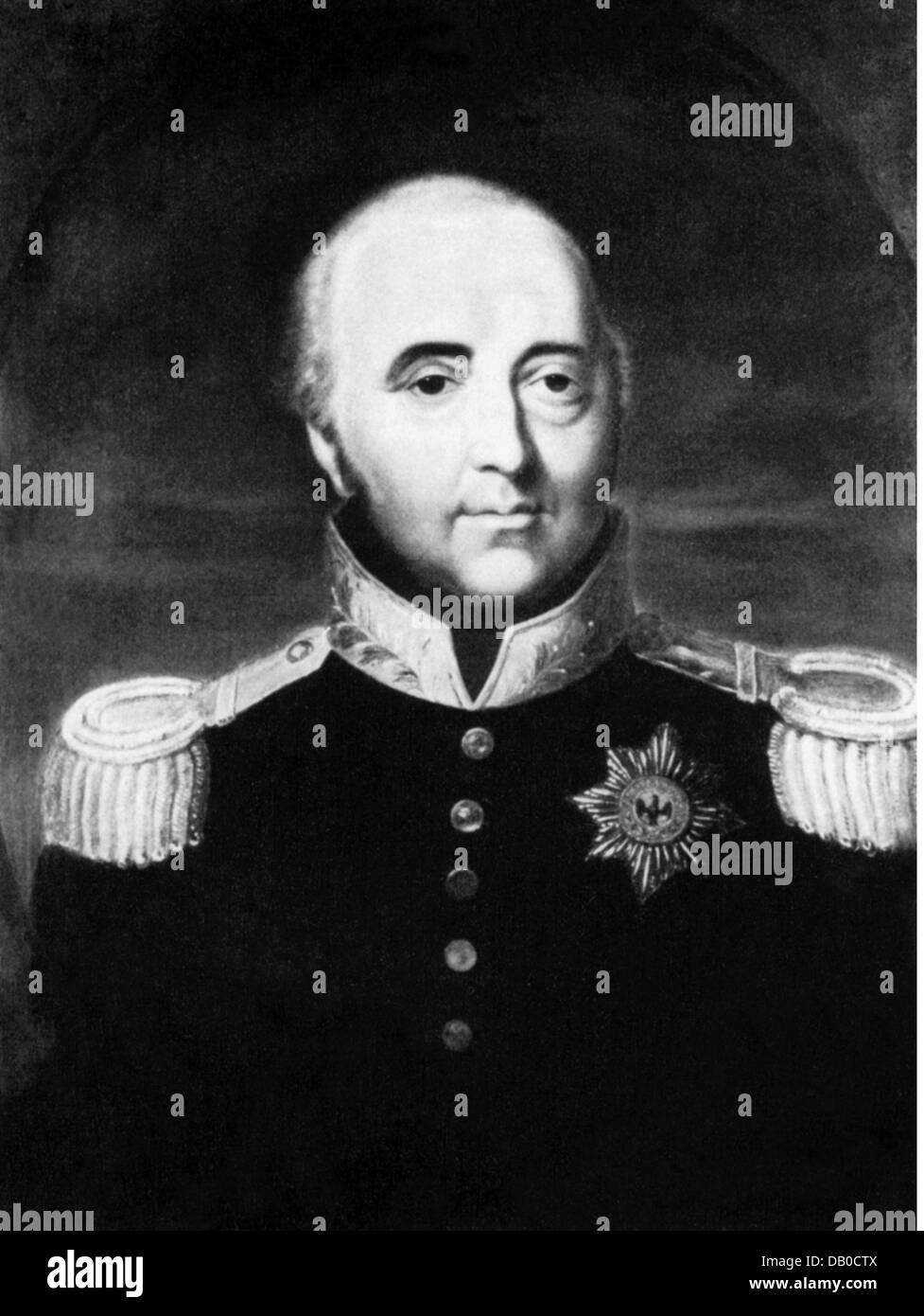 Alexius Frederick Christian, 12.6.1767 - 24.3.1834, Prince of Anhalt-Bernburg 9.4.1796 - 24.3.1834, portrait, after - Stock Image
