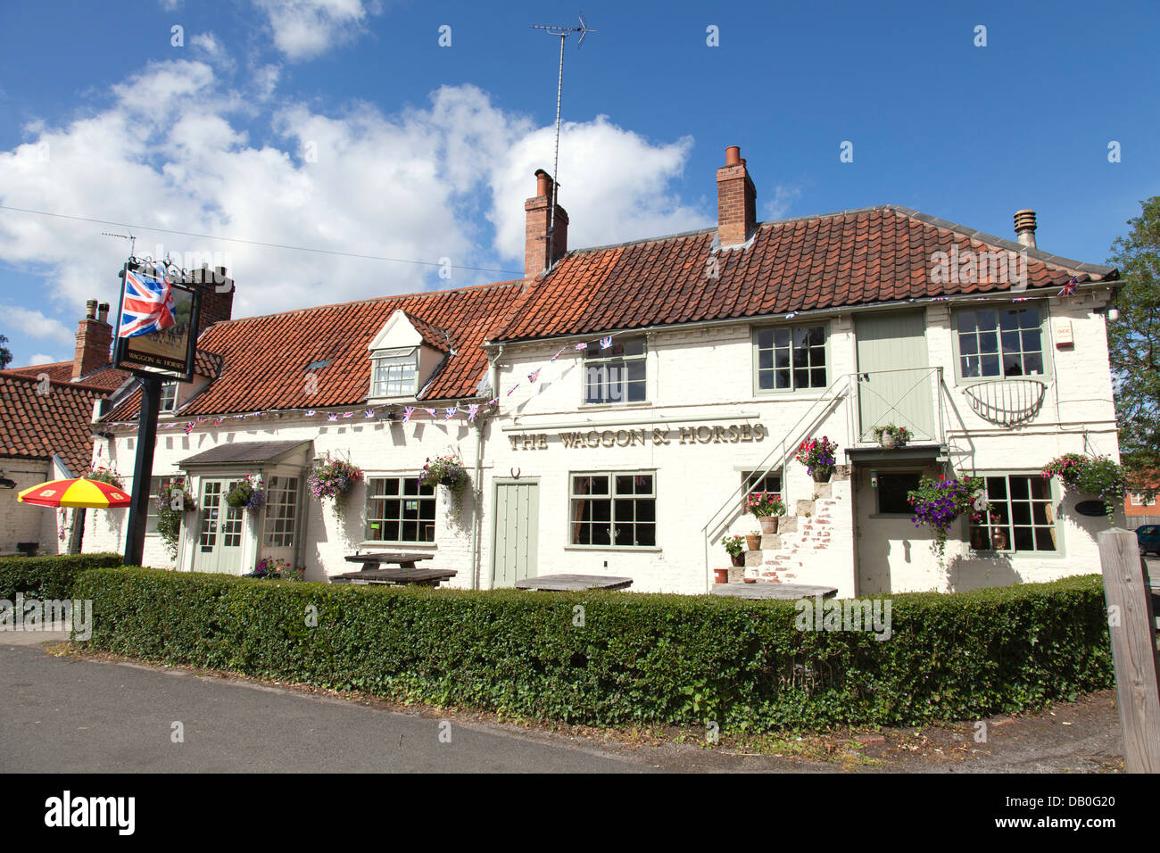 The Waggon & Horses village pub in Bleasby, Nottinghamshire, England, U.K. - Stock Image