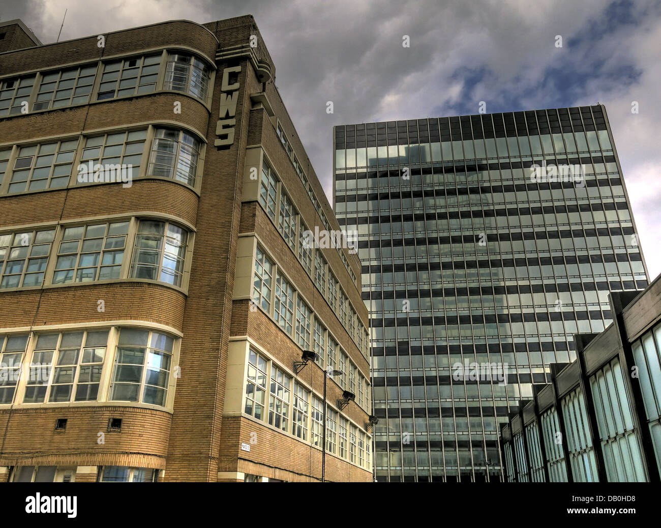 CIS and New Century House Cooperative Wholesale Society buildings, Manchester , North West England, UK - Stock Image