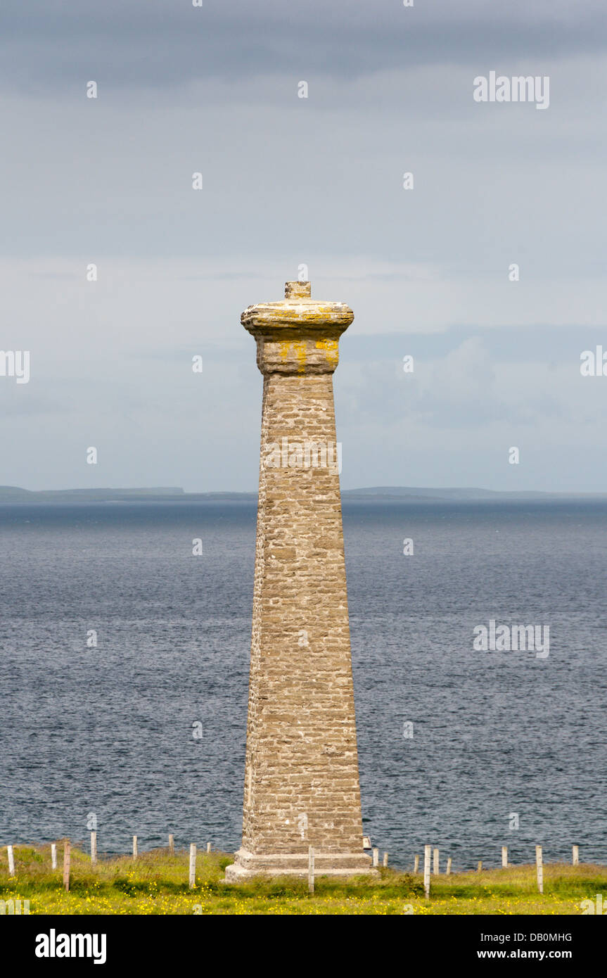 Covenanters' Memorial on Deerness, Orkney.  DETAILS IN DESCRIPTION. - Stock Image