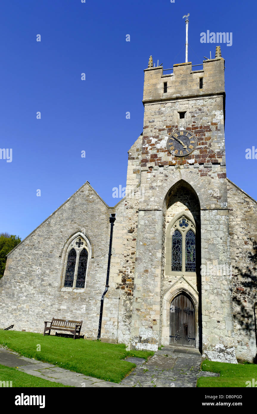 All Saints Church, 1086 Doomsday book, Freshwater, Isle of Wight, England, GB, UK. - Stock Image