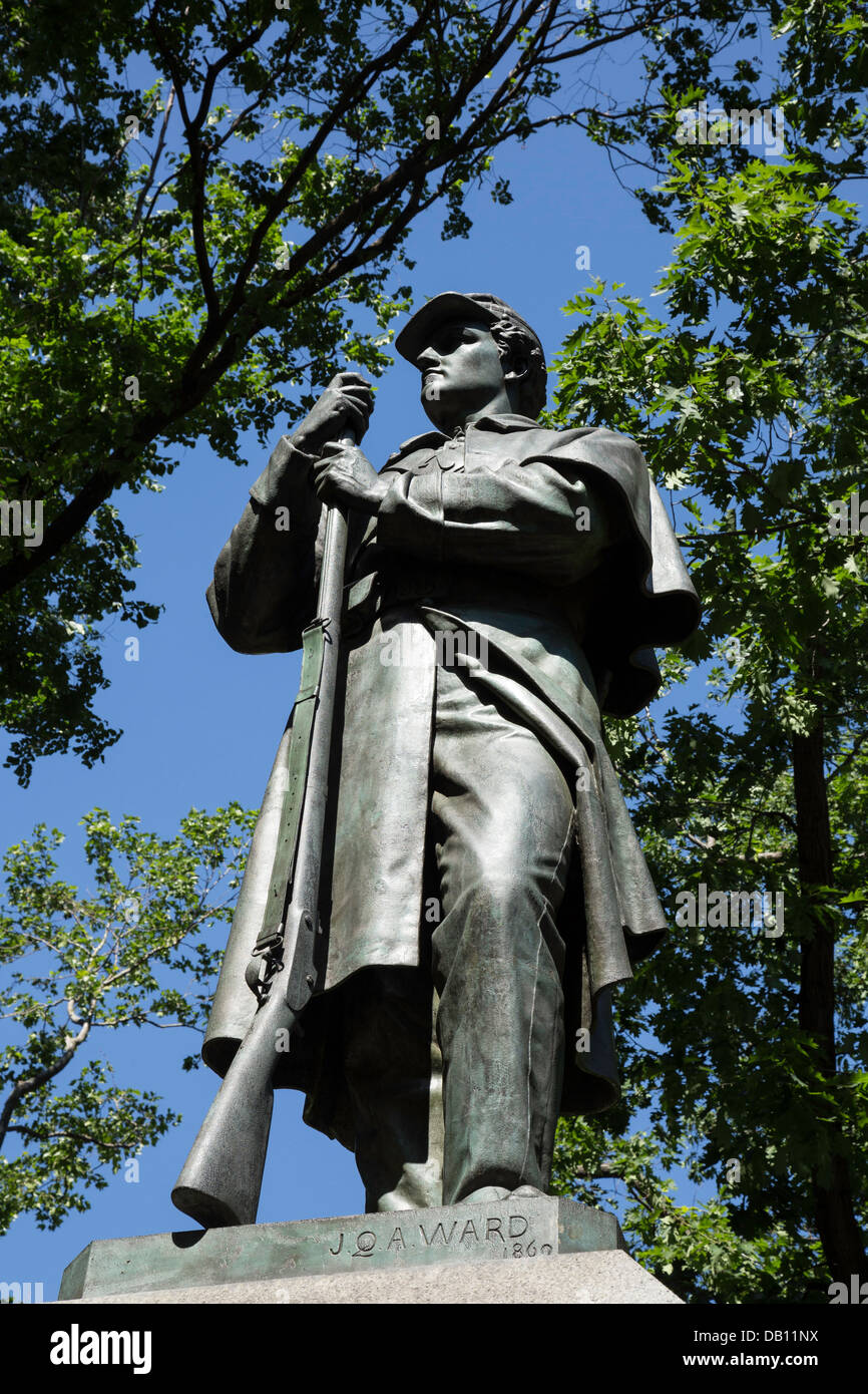 7th Regimental Memorial, Union Army, Civil War.  Central Park, NYC Stock Photo