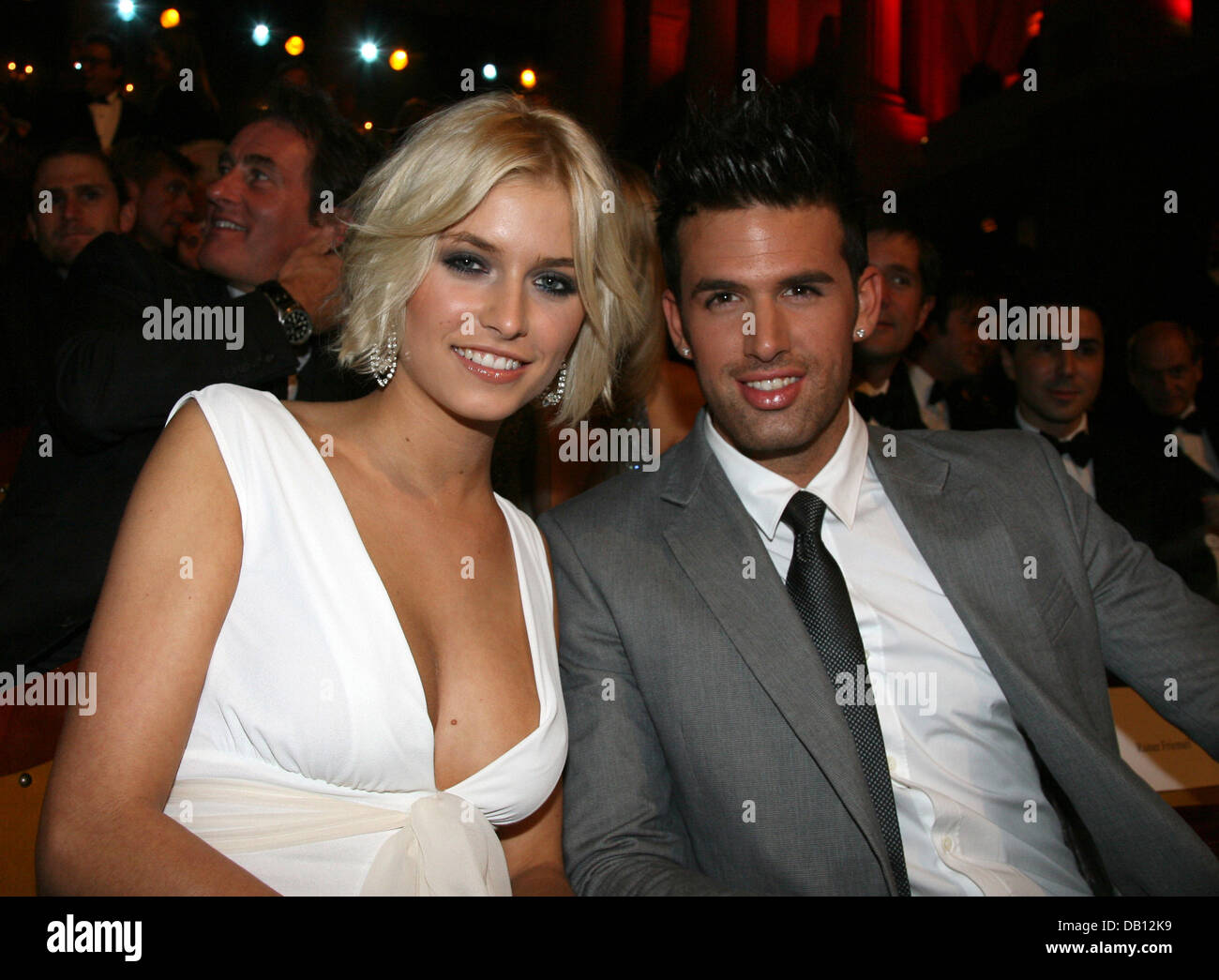 German Model Lena Gercke And Her Boyfriend Jay Khan Pose