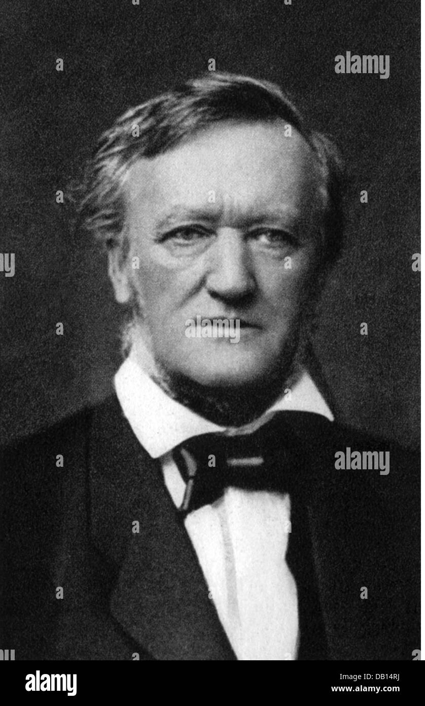 Wagner, Richard, 22.5.1813 - 13.2.1883, German composer, portrait, photograph, by Elliott & Fry, London, 1877, - Stock Image