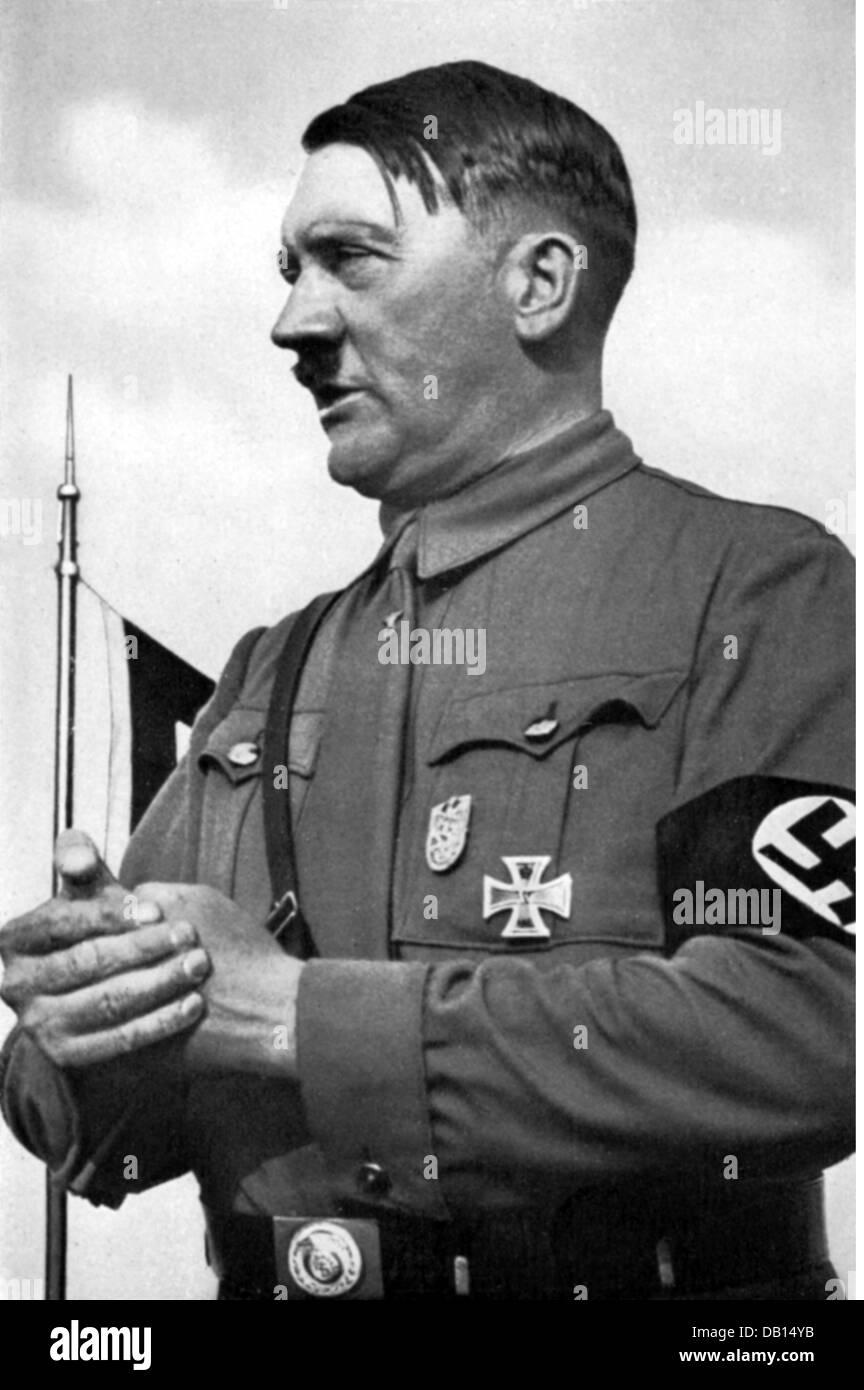 Hitler, Adolf, 20.4.1889 - 30.4.1945, German politician (NSDAP), Chancellor of the Reich 30.1.1933 - 30.4.1945, - Stock Image