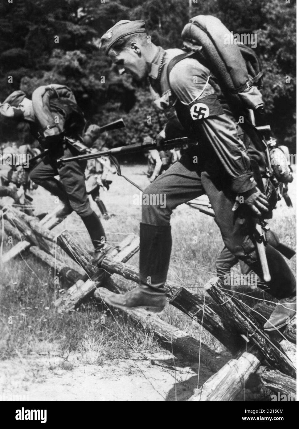 Nazism / National Socialism, organisations, Sturmabteilung (SA, Stormtroopers), sports, steeplechase, 1930s, Additional - Stock Image