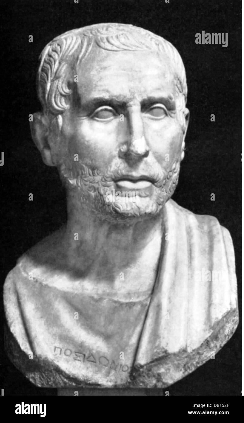 Posidonius of Apameia, 135 - 51 BC, Greek philosopher and author / writer, portrait, bust, 1st century BC, Naples, - Stock Image