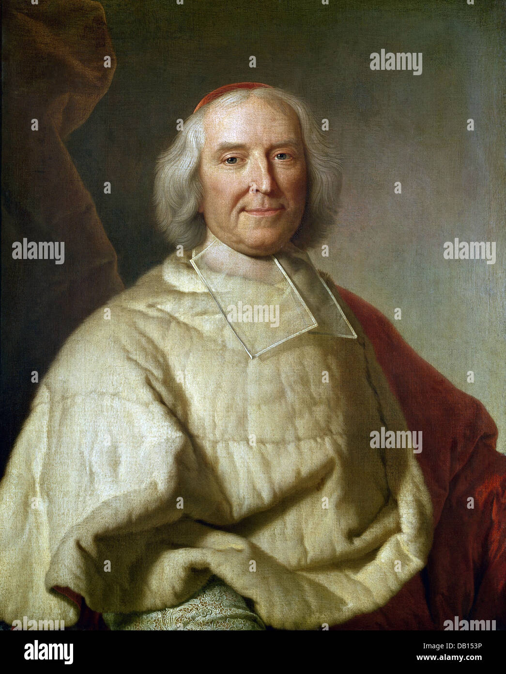 Hyacinthe Rigaud André Hercule, cardinal de Fleury National Gallery London - Stock Image