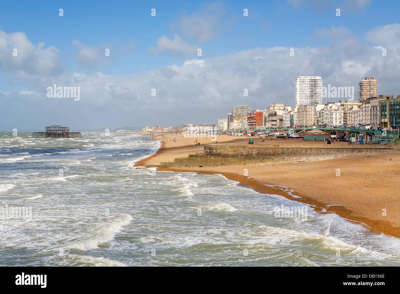 Brighton seafront. England Stock Photo