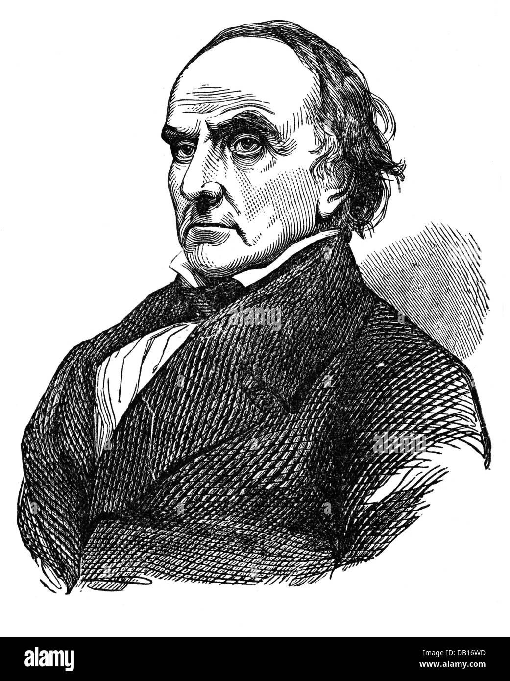 Webster, Daniel, 18.1.1782 - 24.10.1852, American politician, portrait, wood engraving,  19th century, Additional - Stock Image