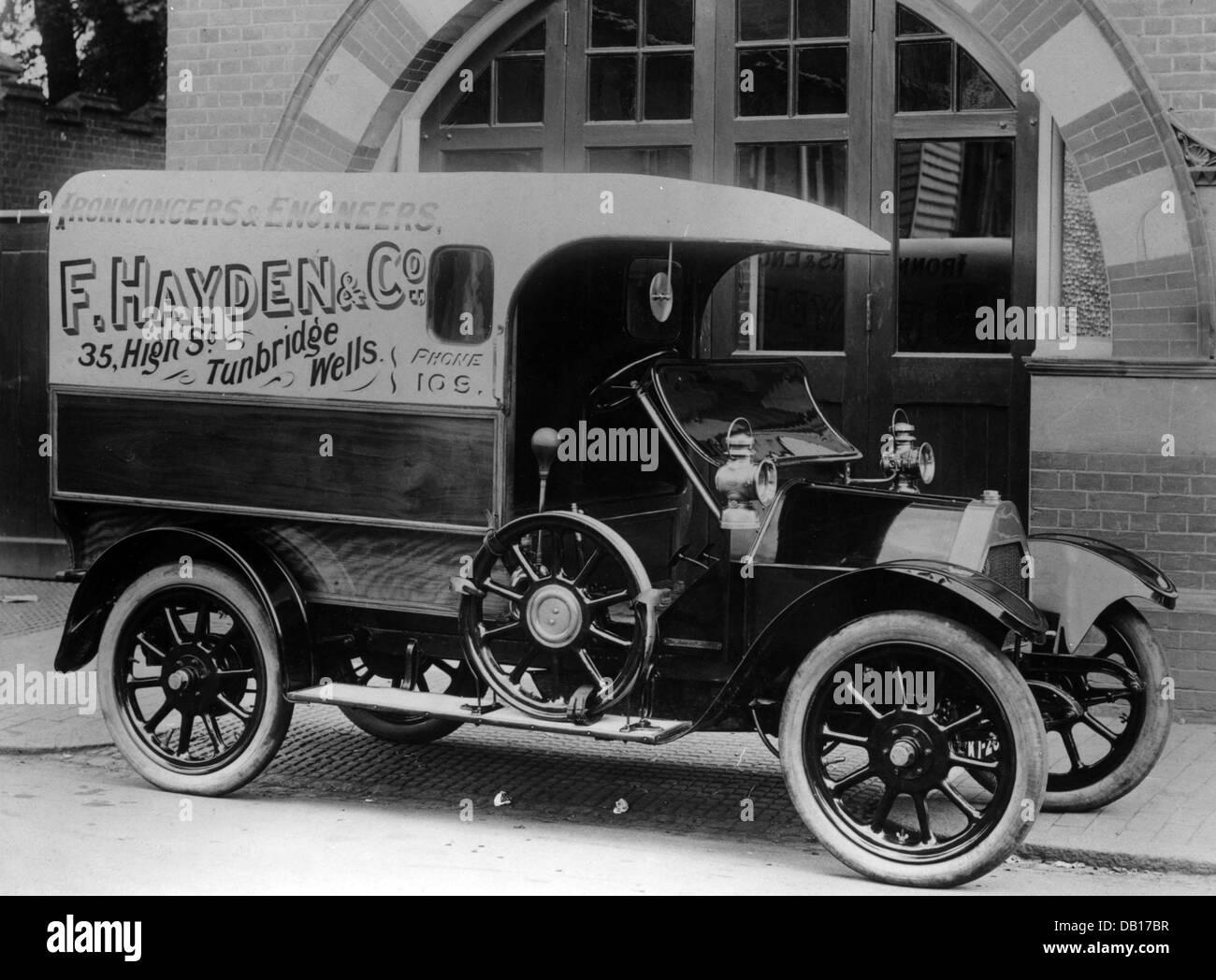1914 Belsize 10-12hp van - Stock Image
