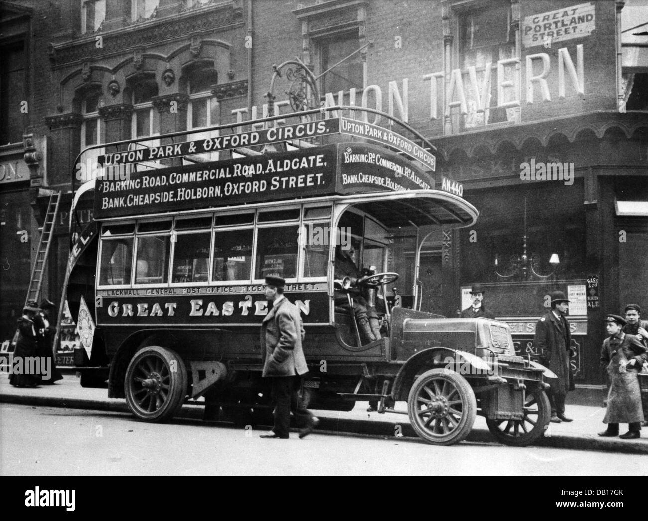 1906 Straker Squire bus 'Great Eastern' - Stock Image