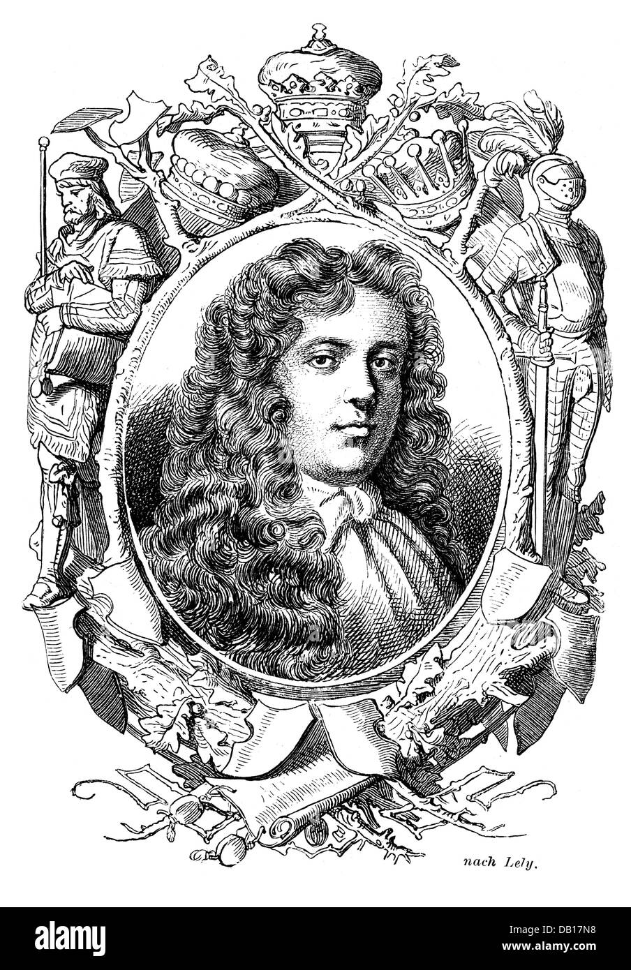 Scott, James, 1st Duke of Monmouth, 9.4.1649 - 5.7.1685, English general and politician, 19th century, Additional - Stock Image