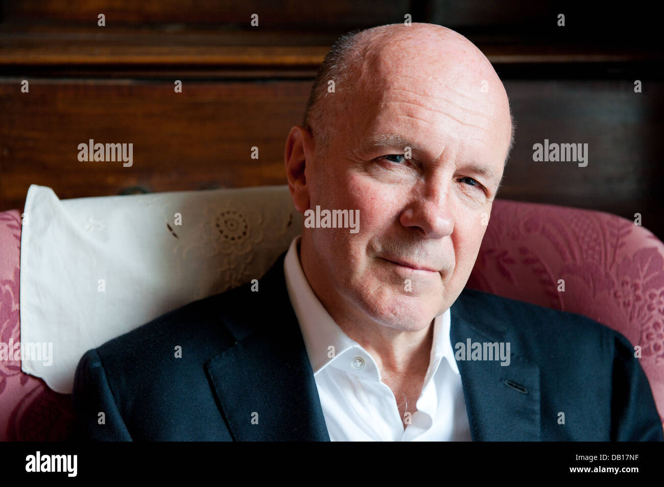 Author and Journalist Simon Winchester, OBE - Stock Image