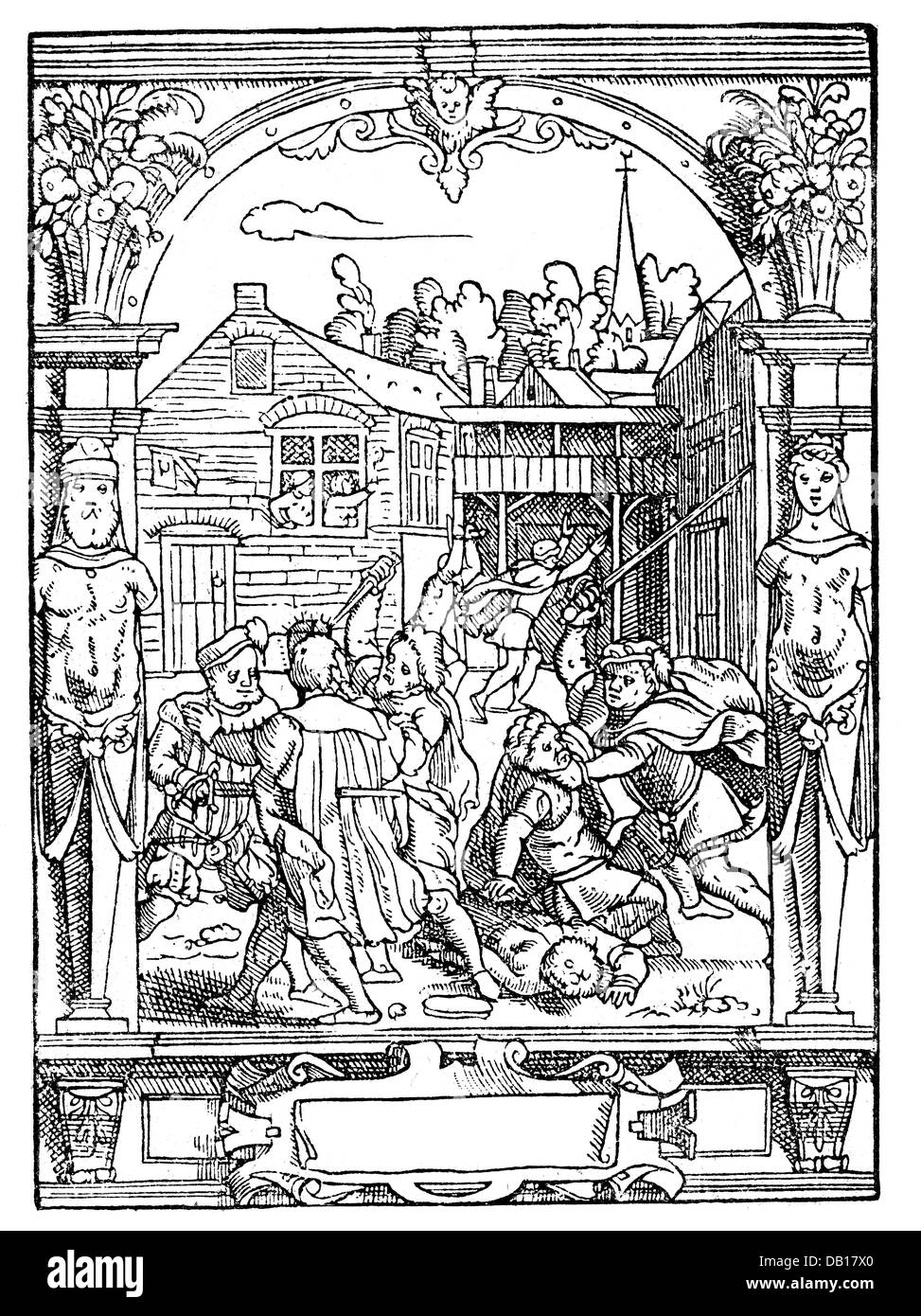 Revolt of the Brotherhoods in Valencia 1520 - 1521, Artist's Copyright has not to be cleared Stock Photo