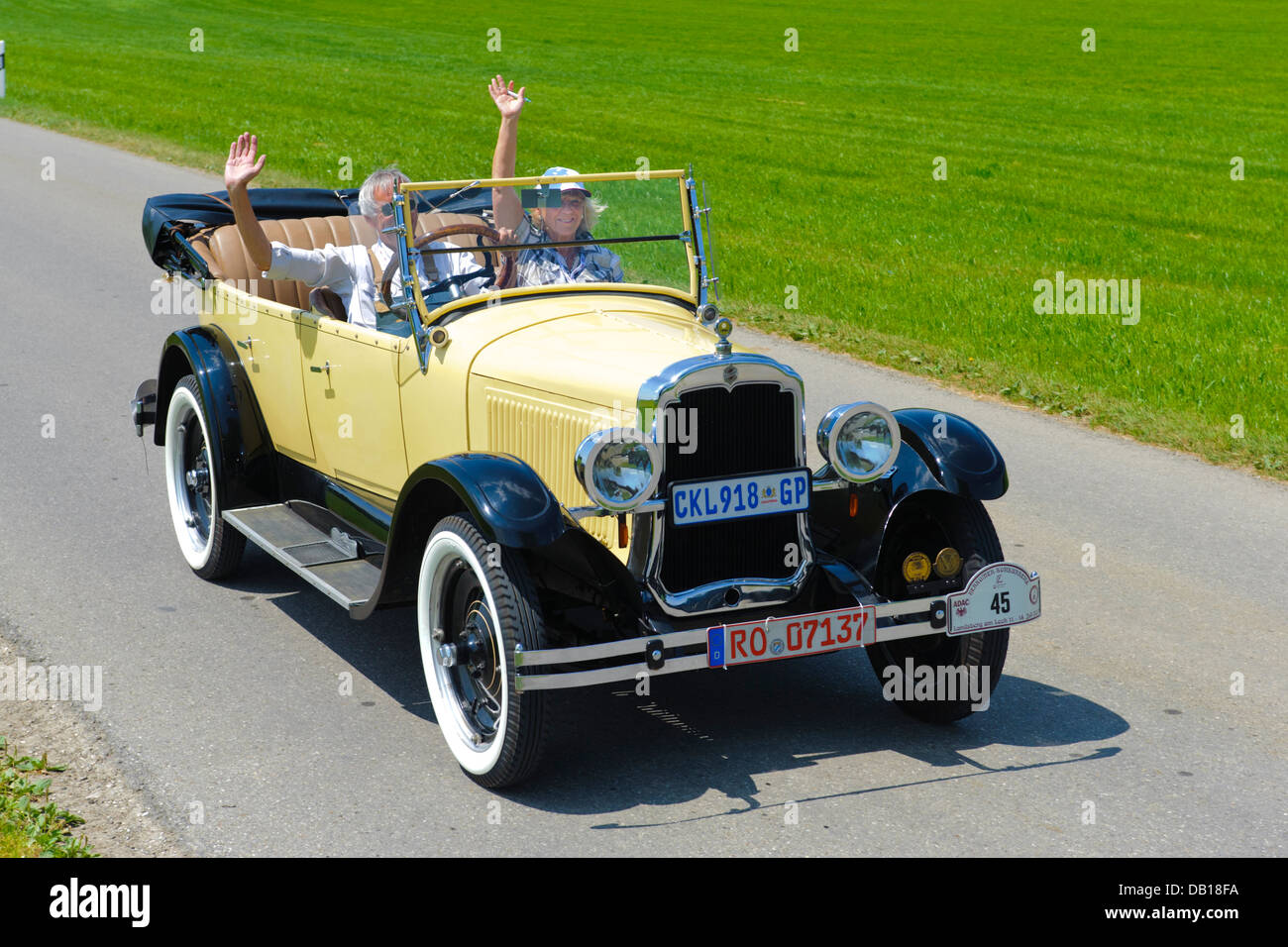 Oldsmobile, built at year 1924, photo taken on July 12, 2013 in Landsberg, Germany - Stock Image