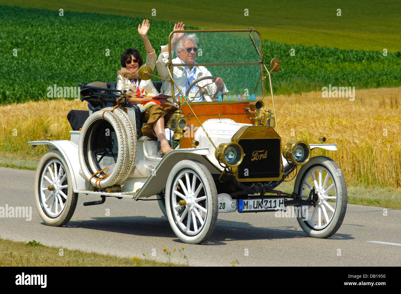 Ford T Roadster, built at year 1911, photo taken on July 13, 2013 in Landsberg, Germany - Stock Image