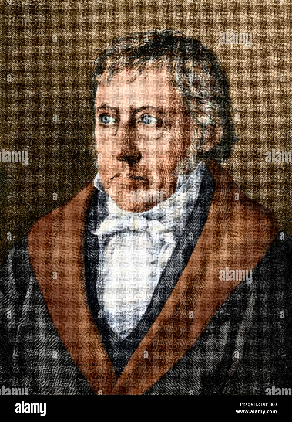 Georg Wilhelm Friedrich Hegel. Digitally colored halftone reproduction of a painting by Selbers - Stock Image