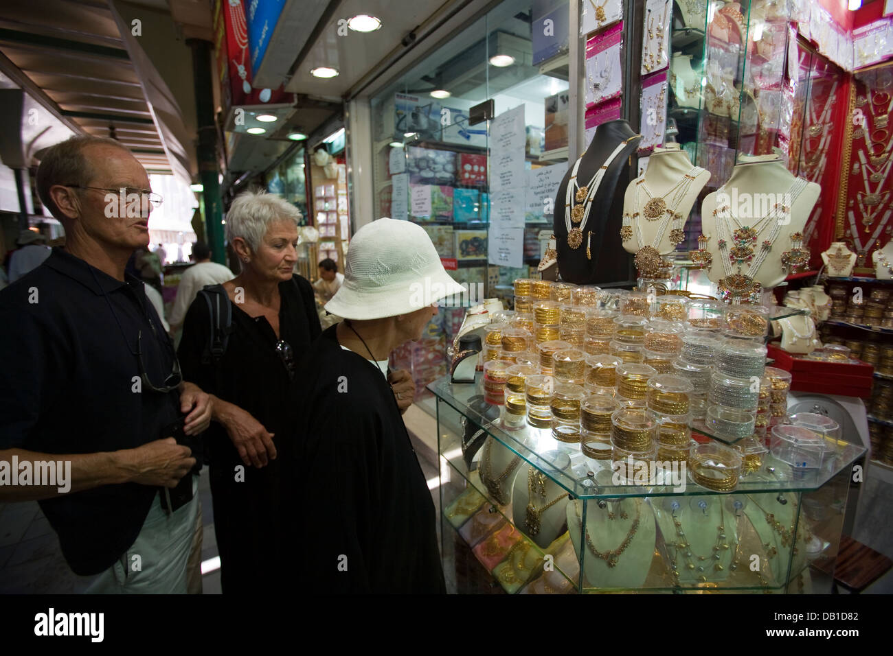 Gold and jewelery shops abound at Souq al-Alawi in Old