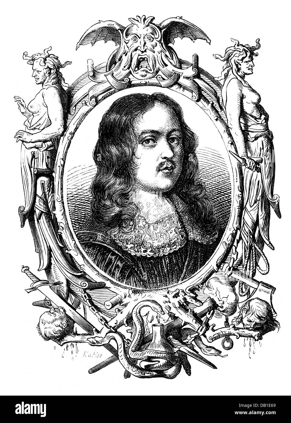 Hales, Edward, 1576 - 1654, English politician, Member of the Long Parliament 1640 - 1645, portrait, wood engraving, - Stock Image