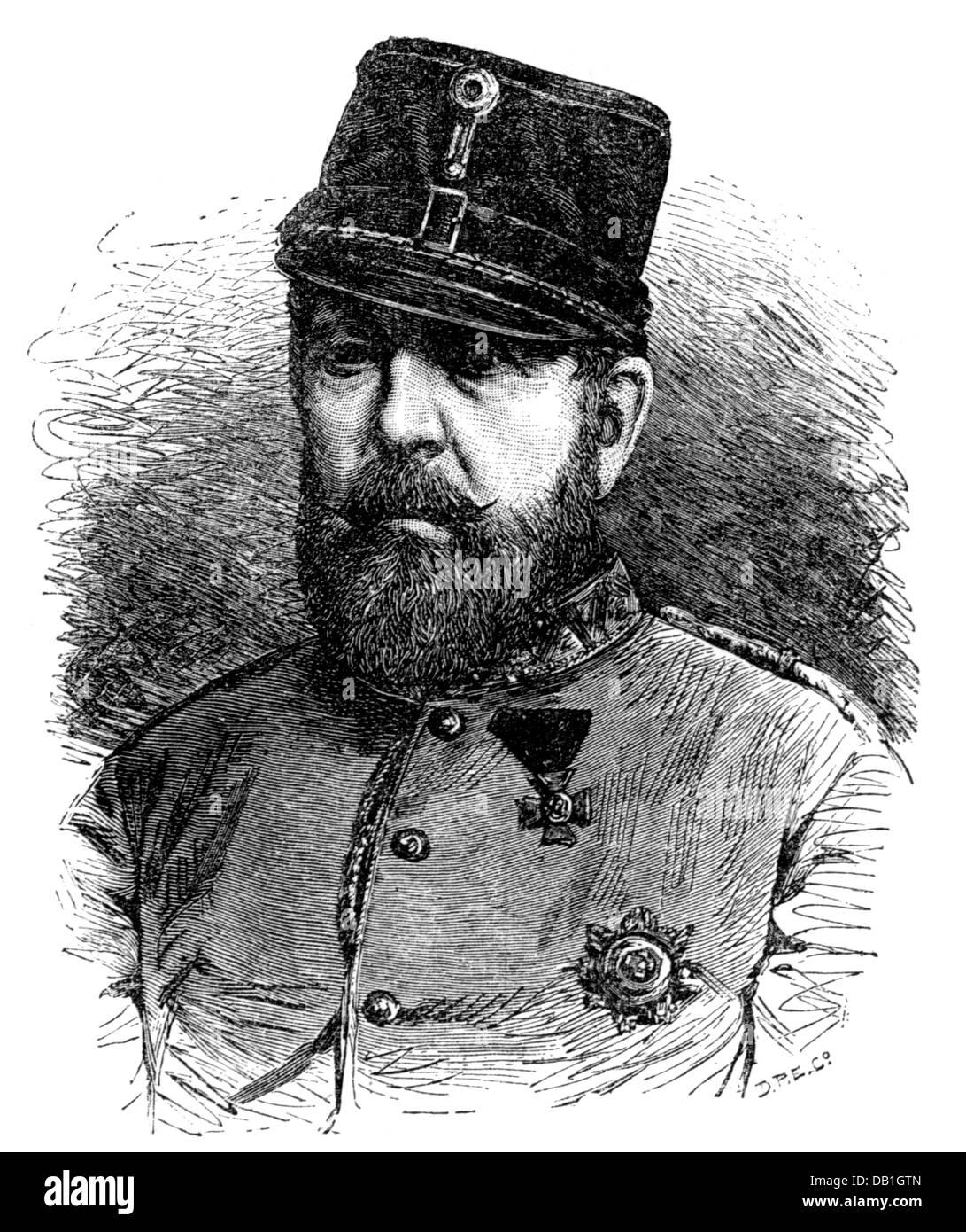 William, 25.4.1806 - 18.10.1884, Duke of Brunswick 20.4.1831 - 18.10.1884, portrait, wood engraving, circa 1880, - Stock Image