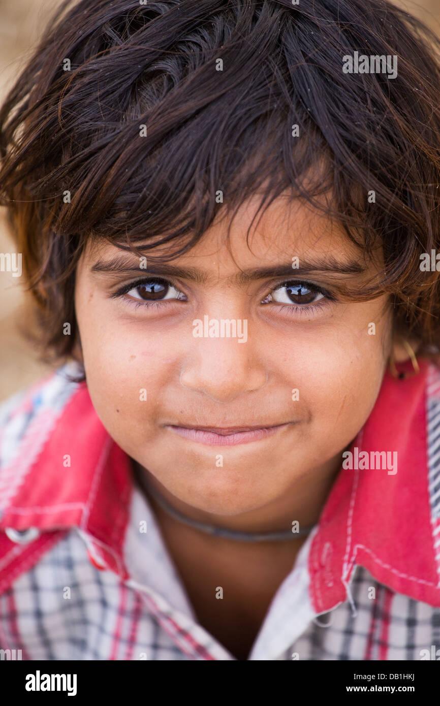 Rural Indian girl near Delhi, India - Stock Image