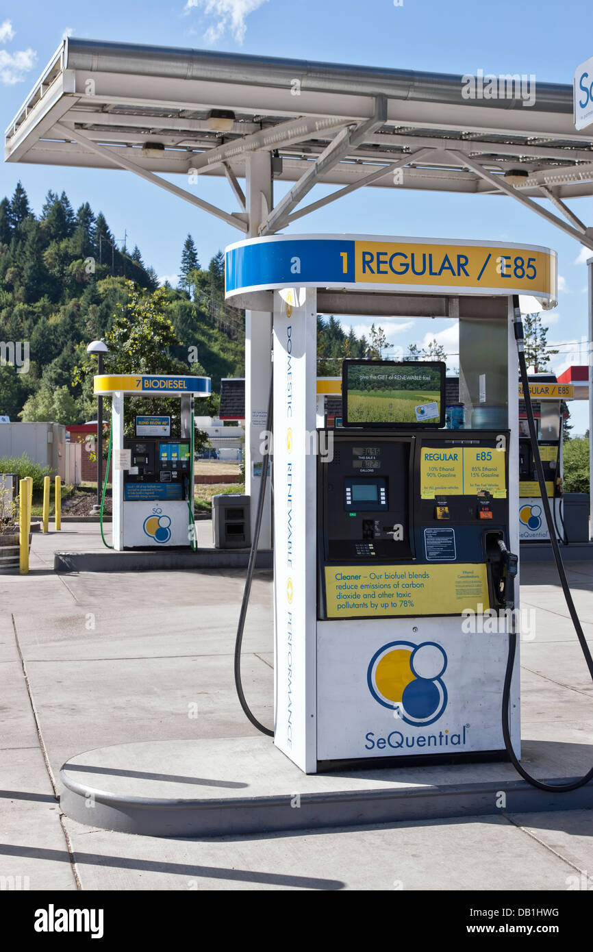 Biofuel E-85 service station. - Stock Image