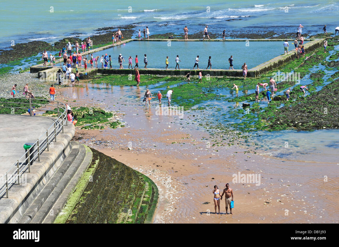 Broadstairs Kent England Uk Tidal Seawater Swimming