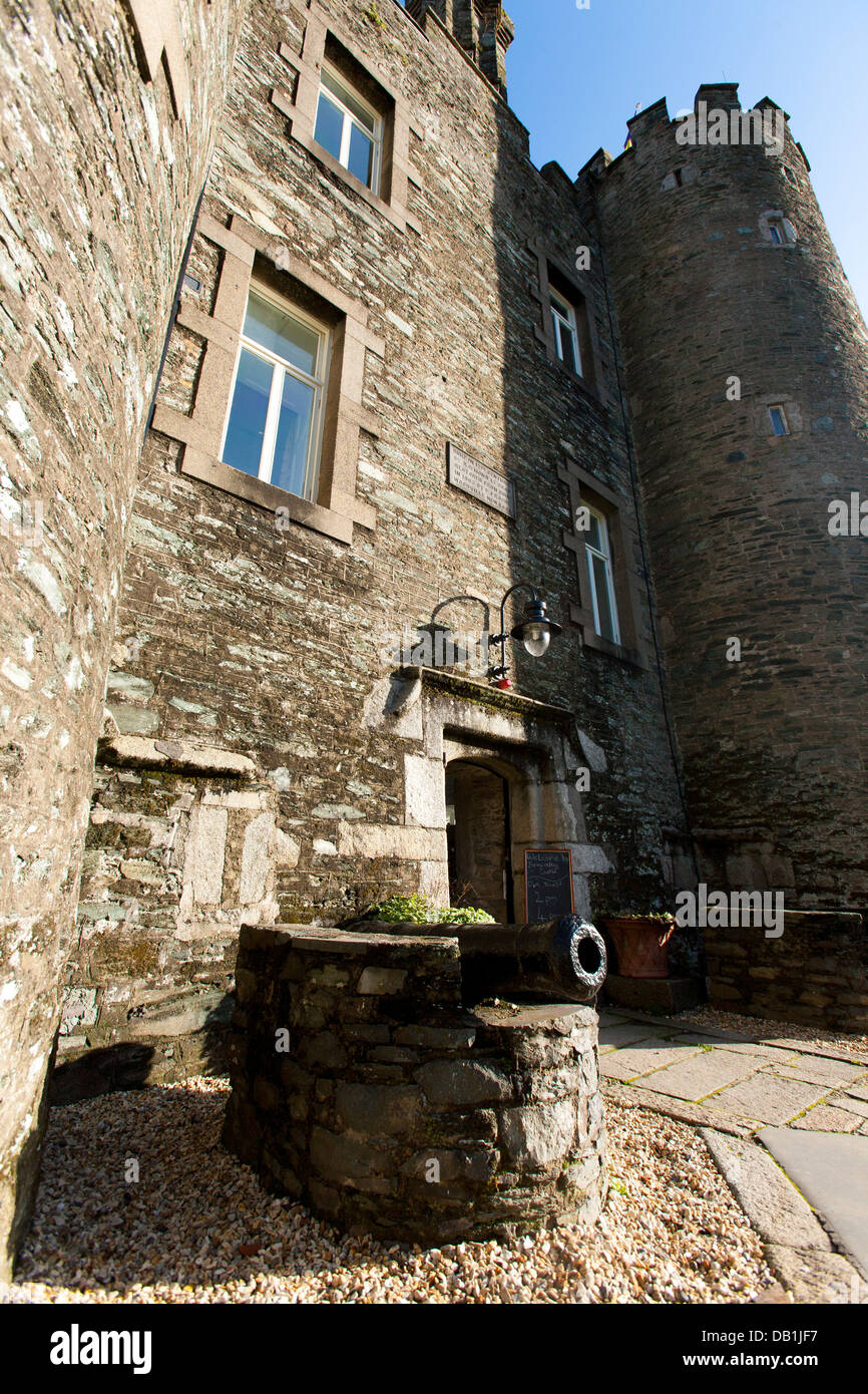 The outside facade of Enniscorthy Castle Museum in County Wexford, Ireland, once a house for a wealthy family. - Stock Image