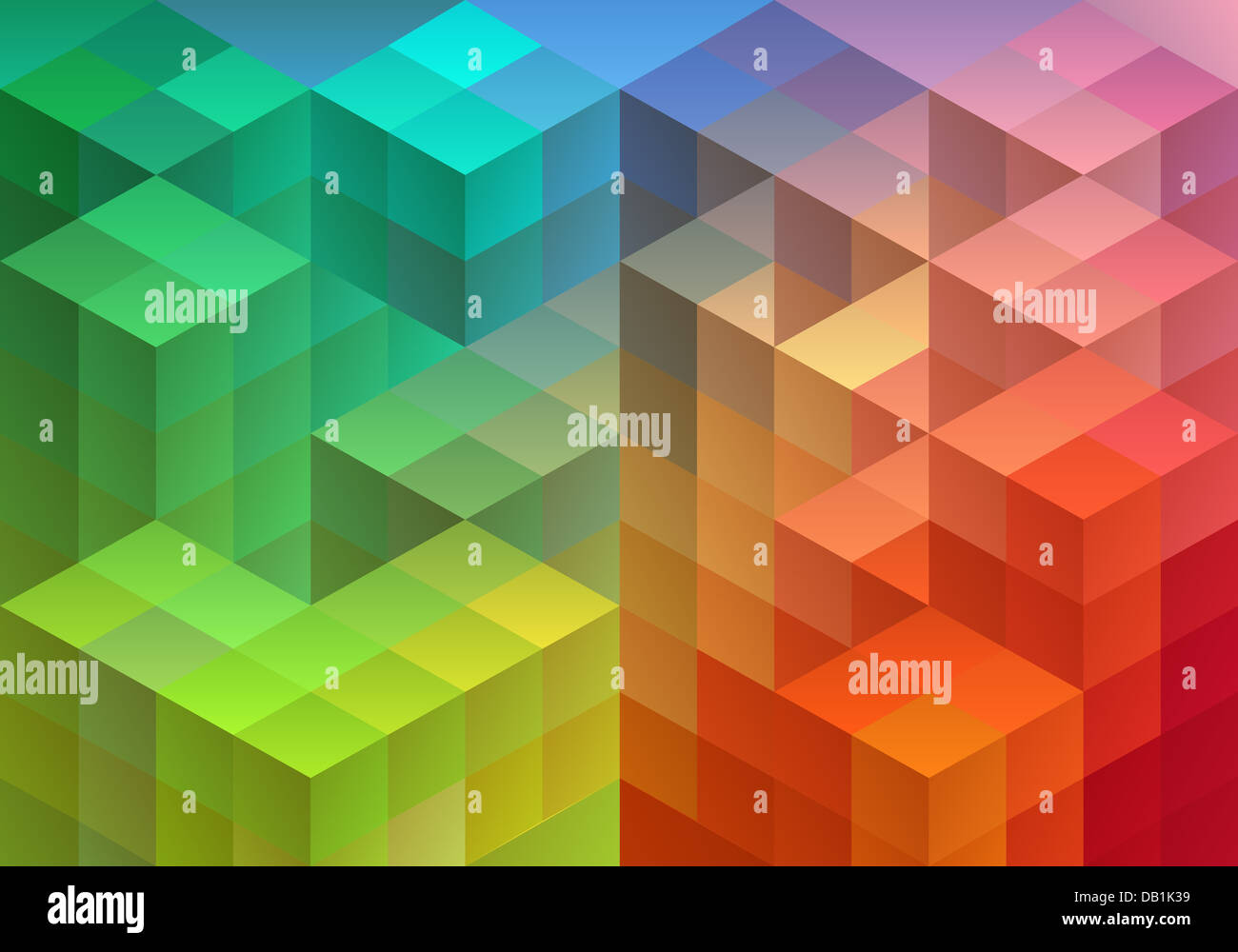 Abstract geometric pattern, triangle polygon design, vector background - Stock Image