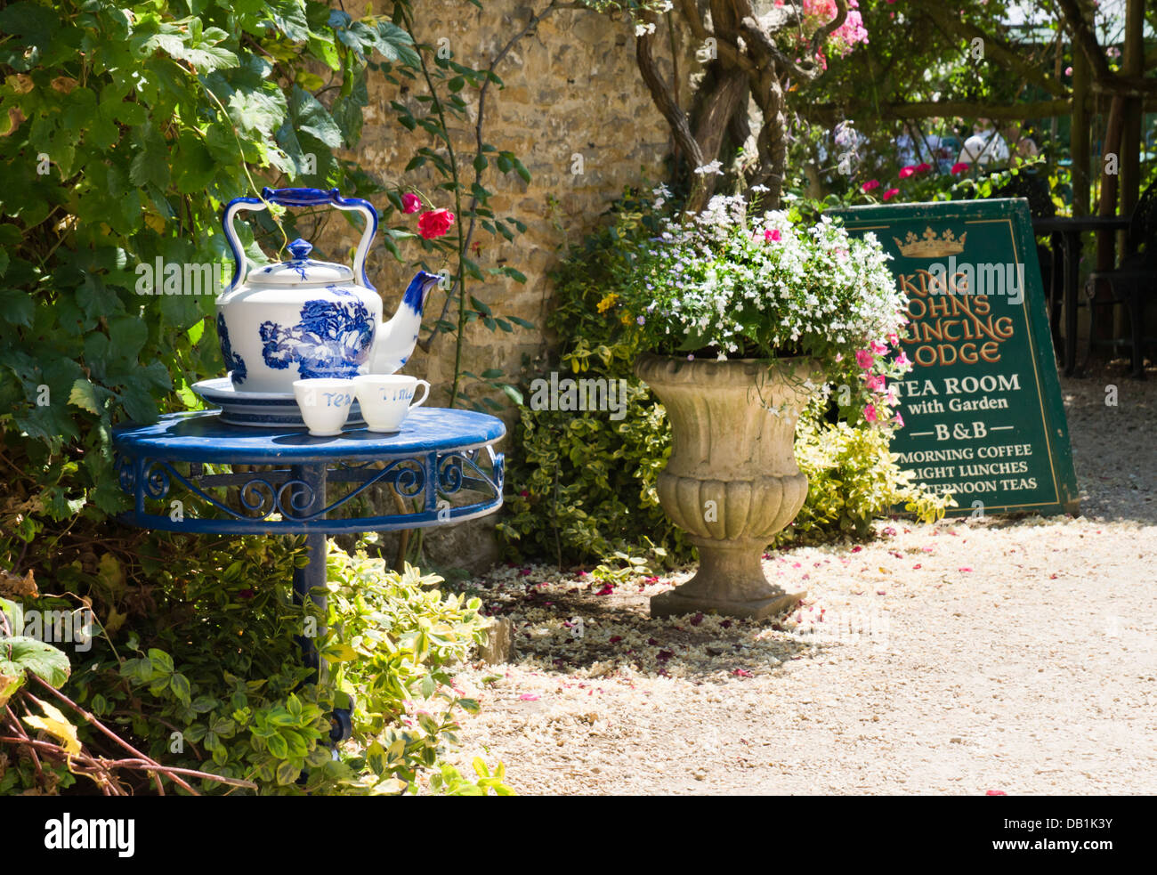 Lacock is a attractive historic village in Wiltshire England UK  King John's Hunting Lodge Tearoom - Stock Image