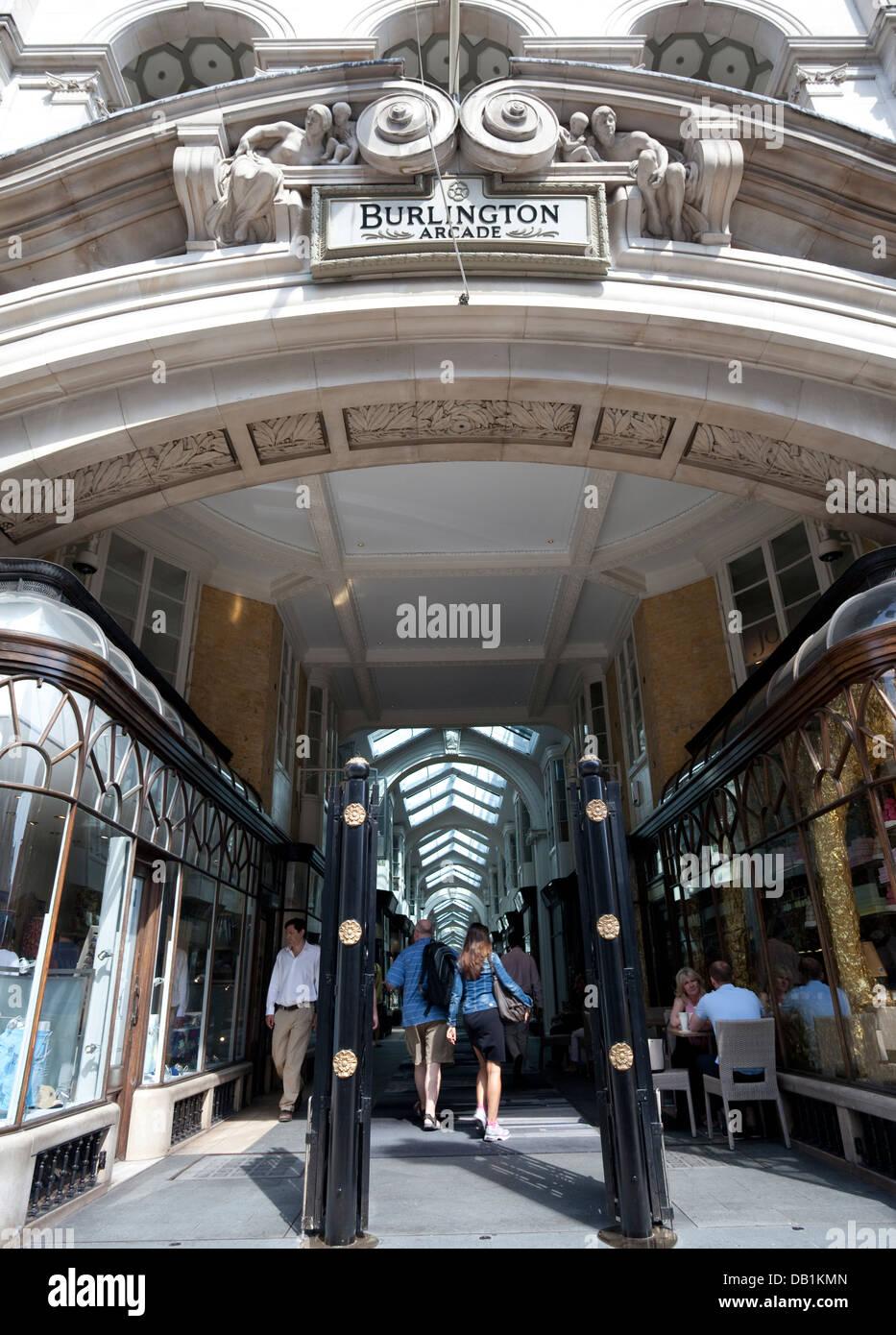 Burlington Arcade, Piccadilly, London - Stock Image