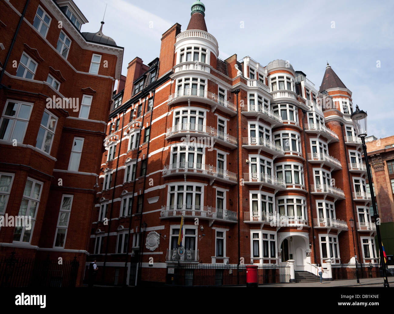 Ecuador & Colombian Embassies, Knightsbridge, London - Stock Image