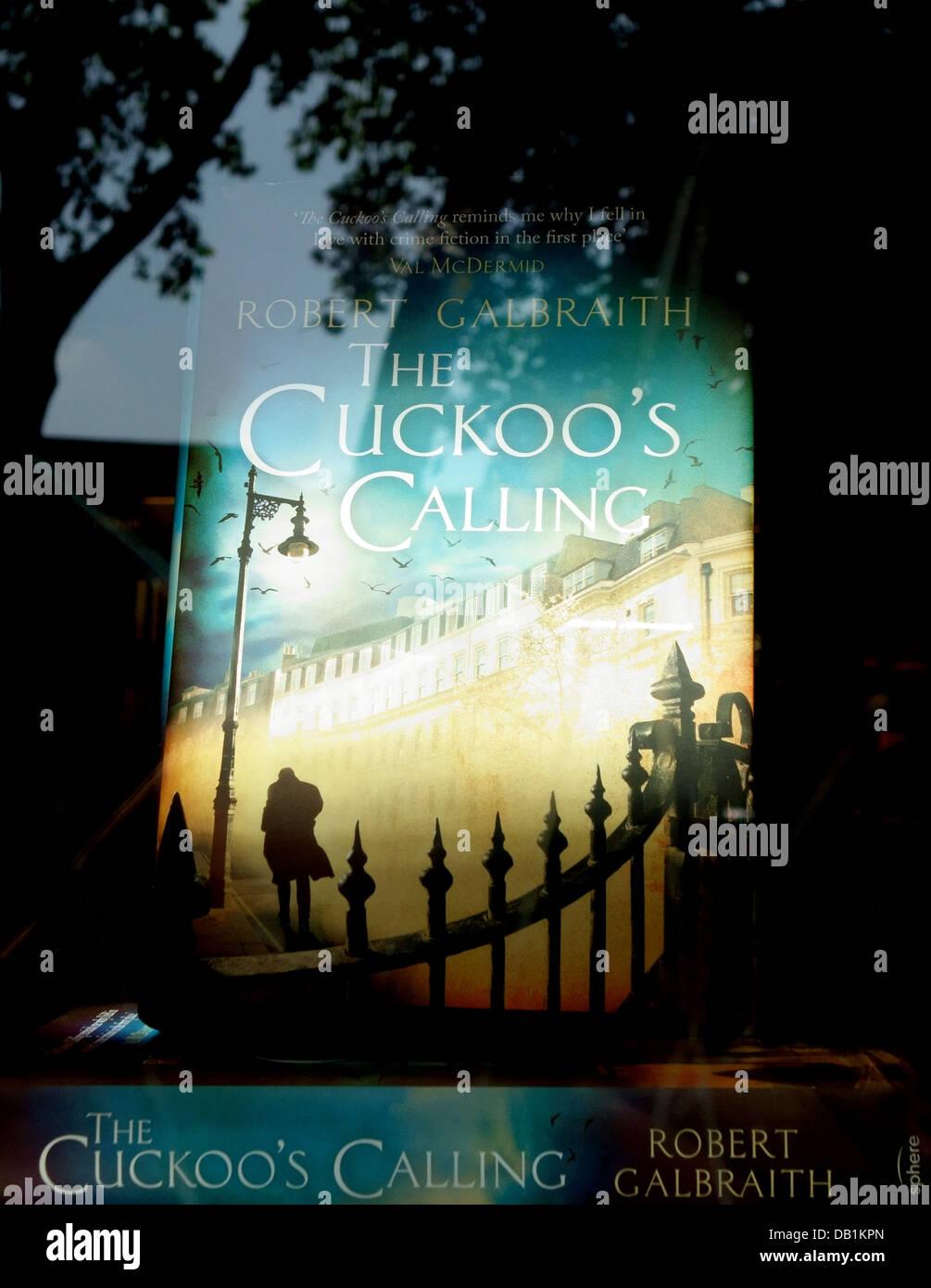 The Cuckoo's Calling by Robert Galbraith (J K Rowling) in London bookshop - Stock Image