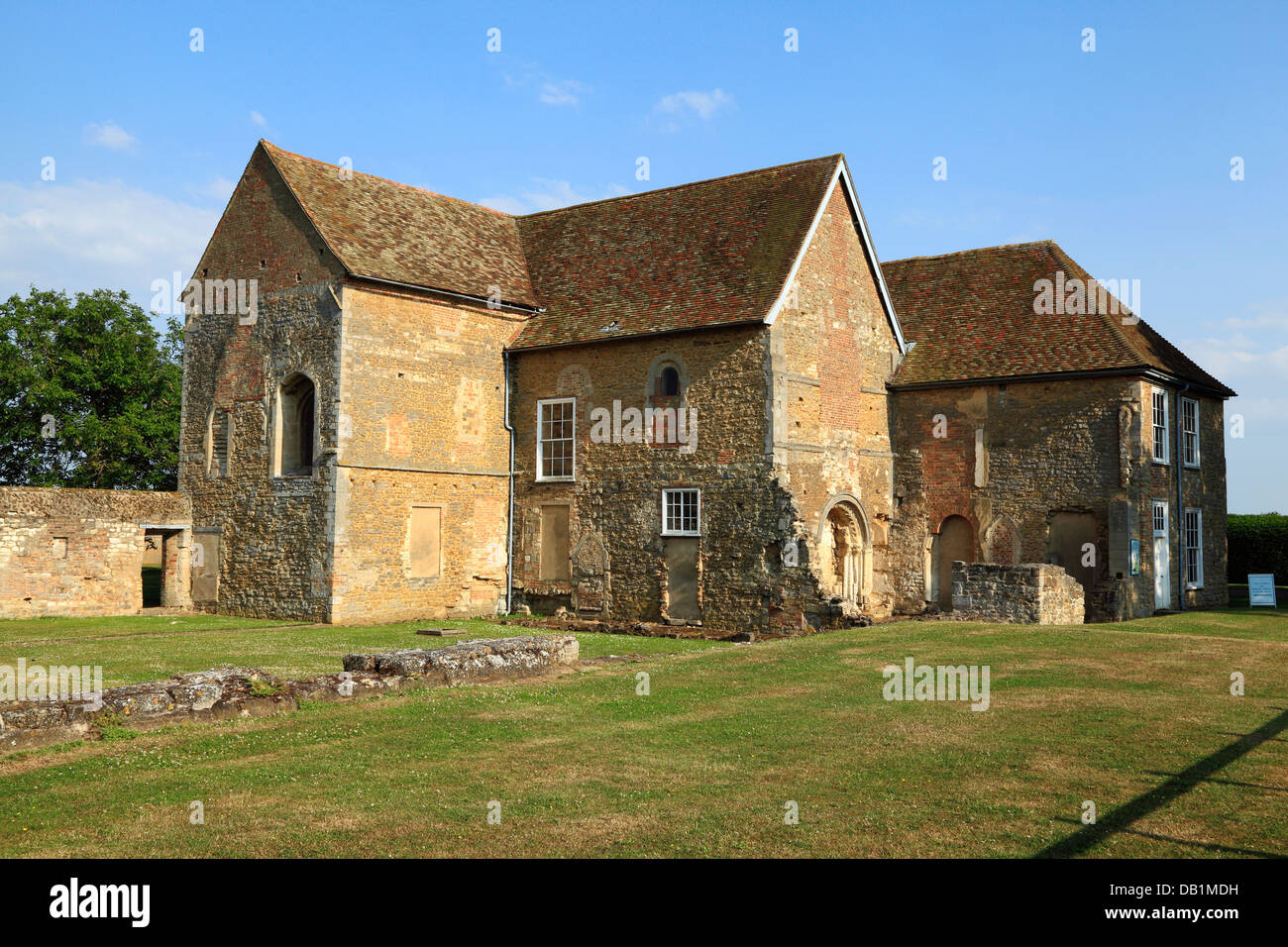 Denny Abbey, Cambridgeshire, England UK, English abbeys - Stock Image