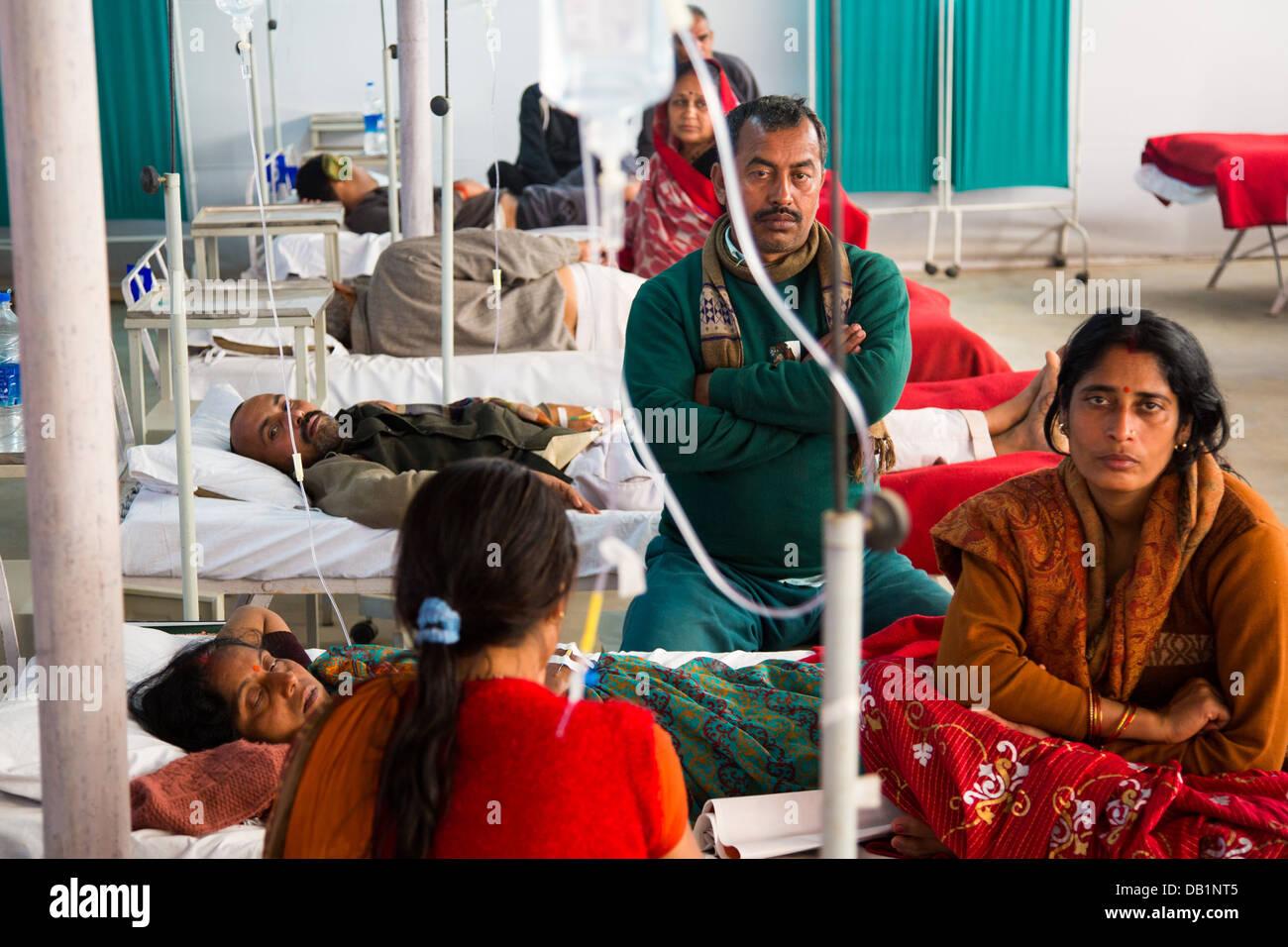 Clinic at the Kumbh Mela, Allahabad, India - Stock Image