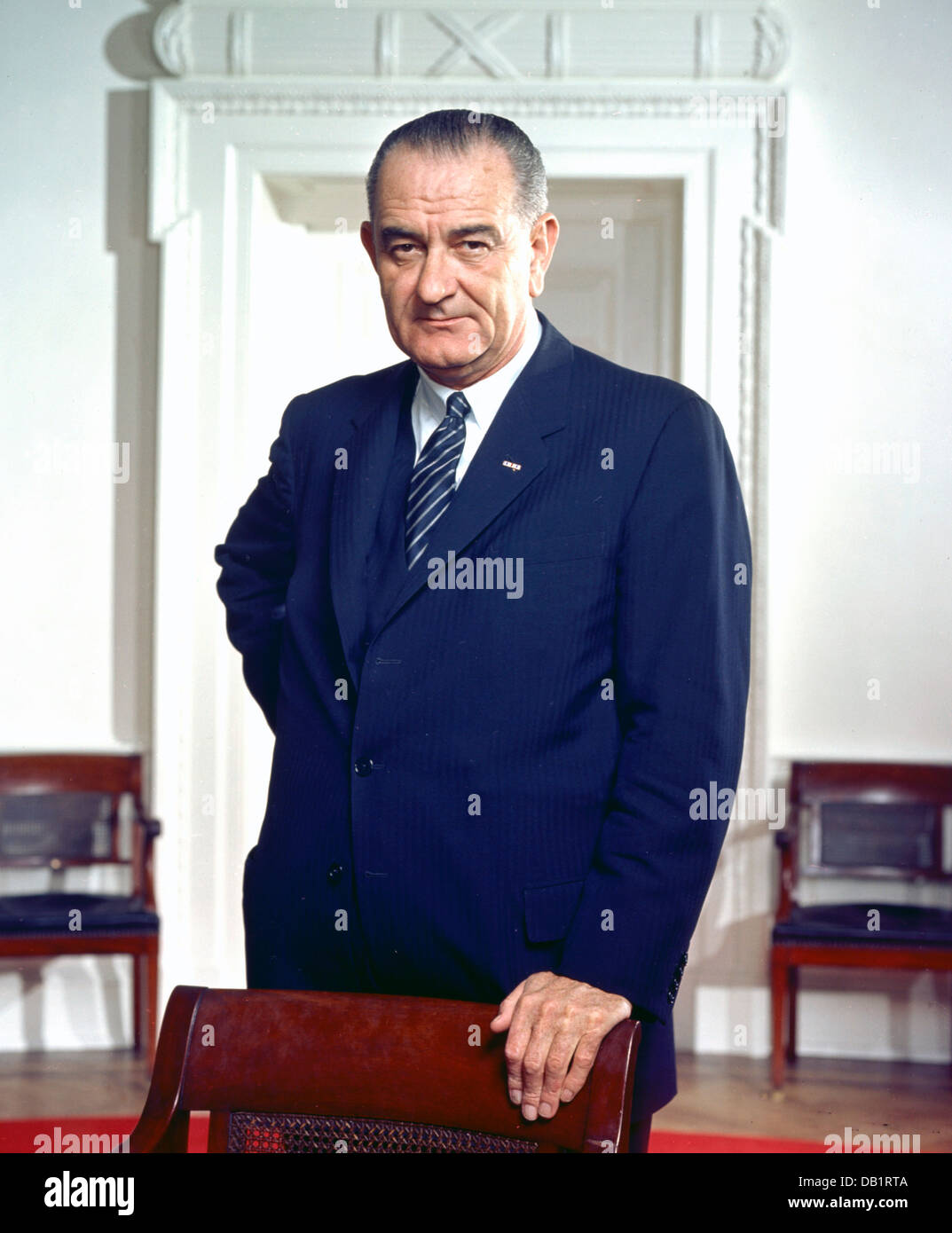 LYNDON B.JOHNSON (1908-1973) as 36th President of the United States on 10 March 1964 Stock Photo