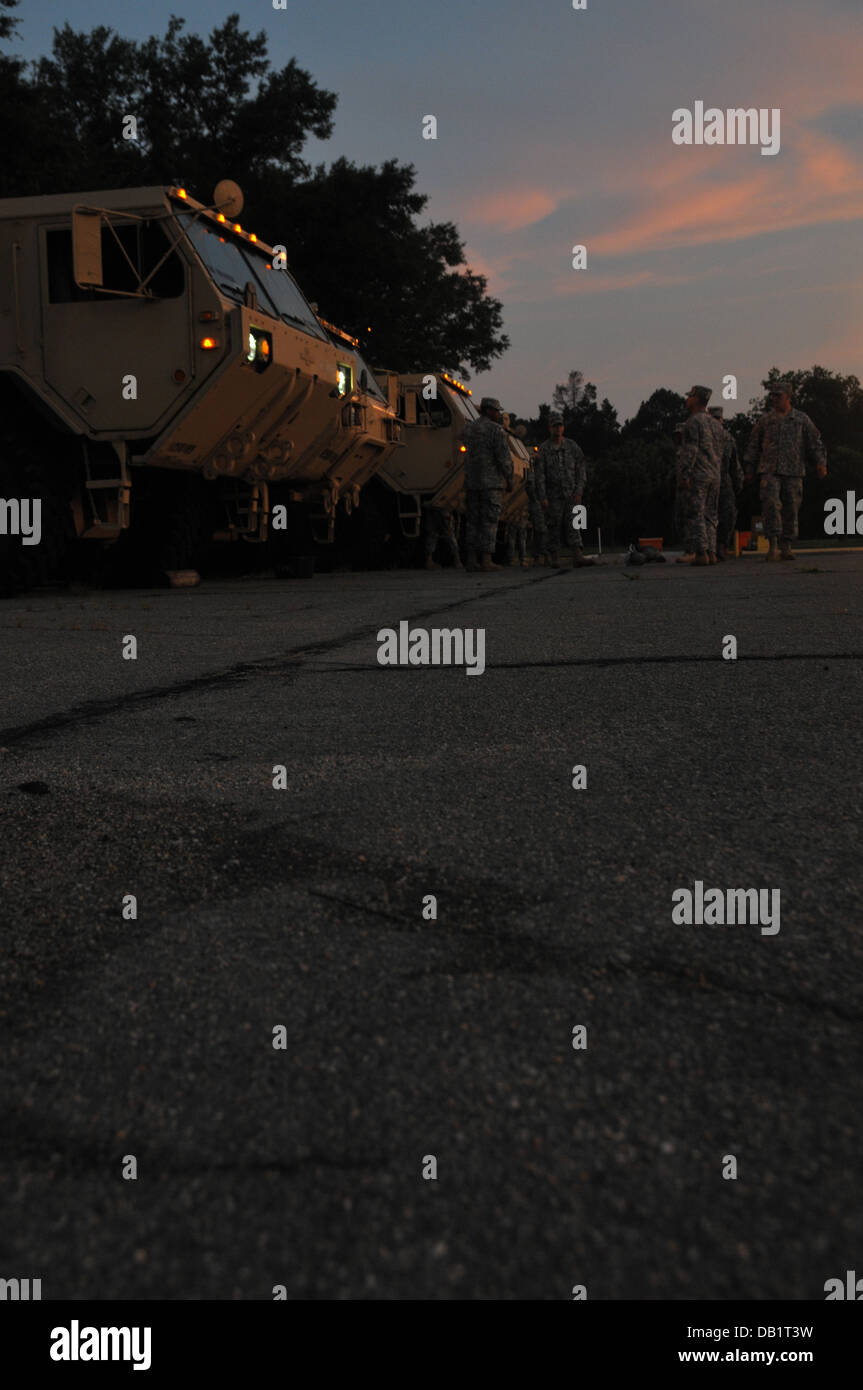 Soldiers With 126th Transportation Company 189th Combat Sustainment Stock Photo Alamy