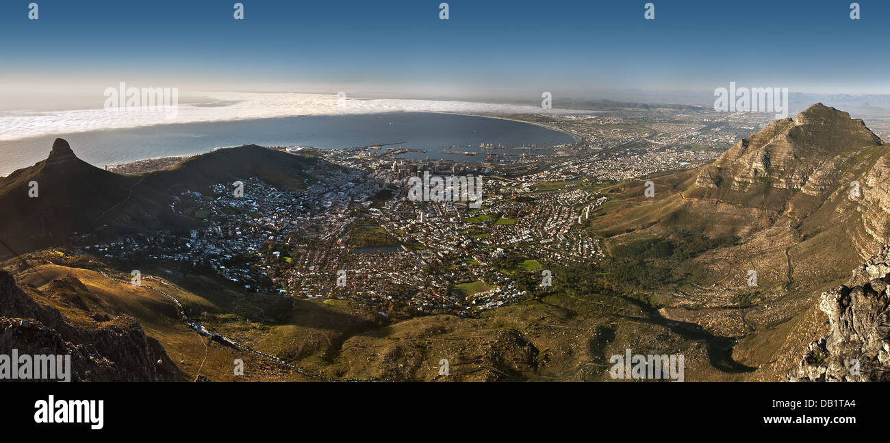 Panorama view from Table mountains. - Stock Image