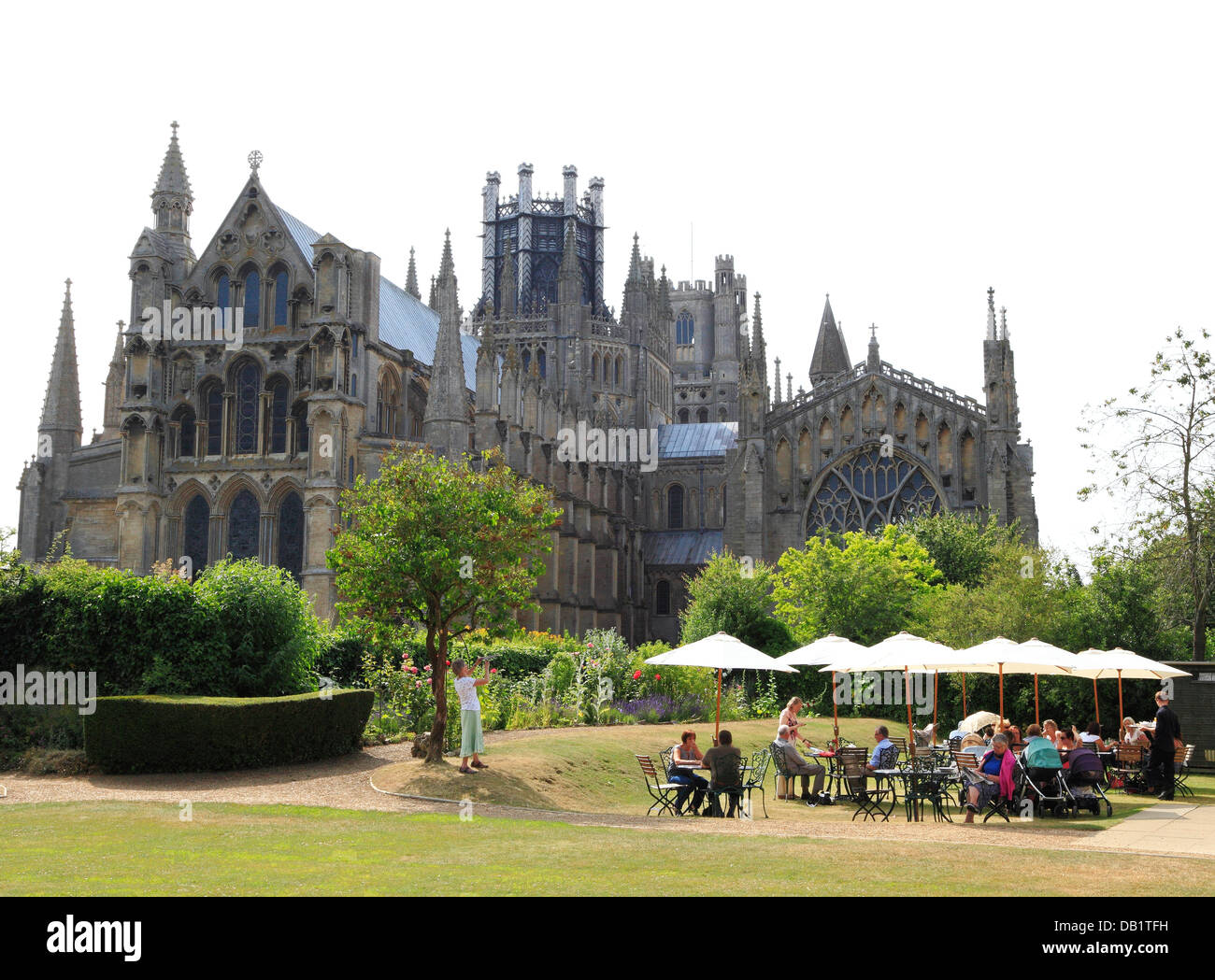 Ely, Almonry Tea Room, Restaurant, Cathedral, Cambridgeshire, England UK English tea rooms cathedrals city cities - Stock Image