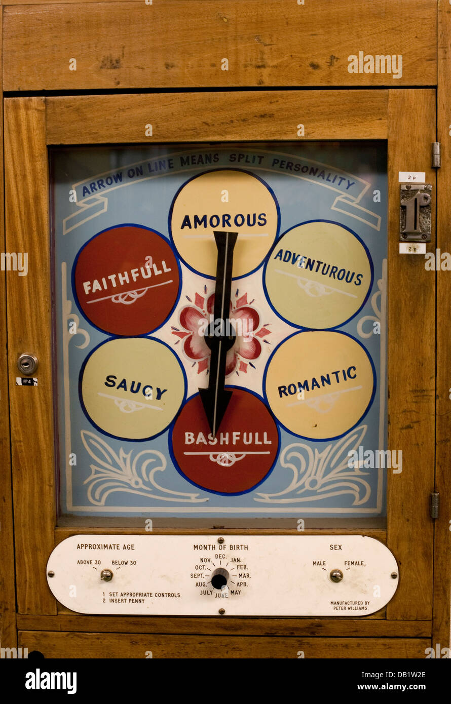 Traditional arcade game for personality checking - Stock Image