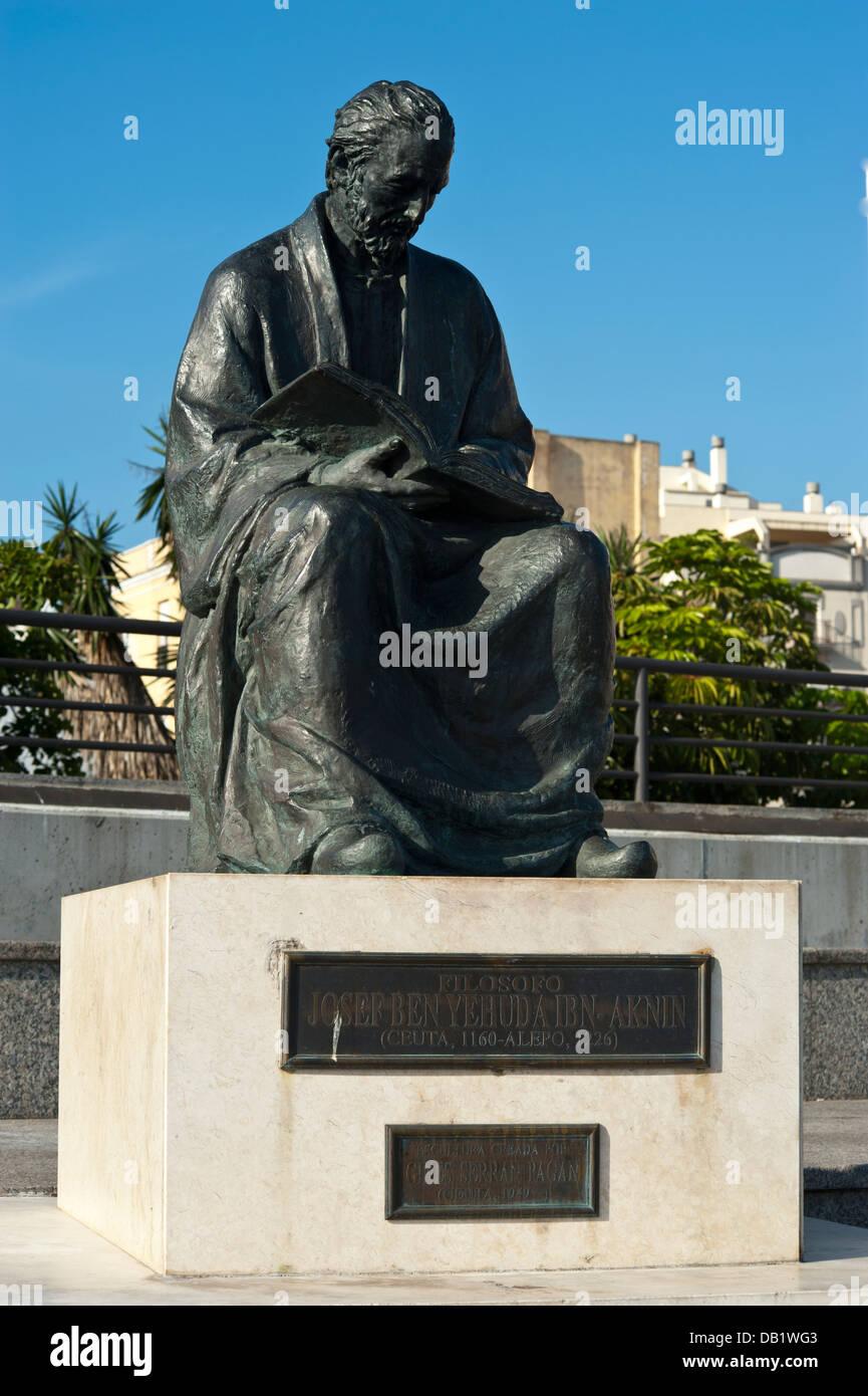 Josef Ben Yehuda Ibn Philosopher ( Ceuta 1160-Alepo 1226 ) Ceuta . North Africa. - Stock Image