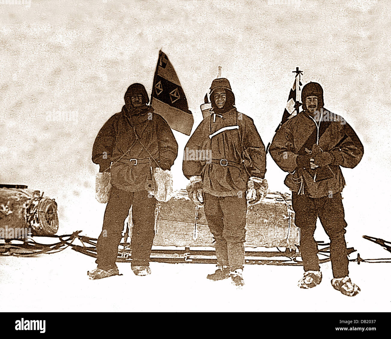 Shackleton's Antarctic Expedition Shackleton Scott and Wilson in 1902 - Stock Image