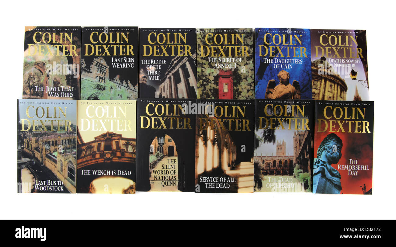The box set by Colin Dexter of the books about Chief Inspector Morse. - Stock Image