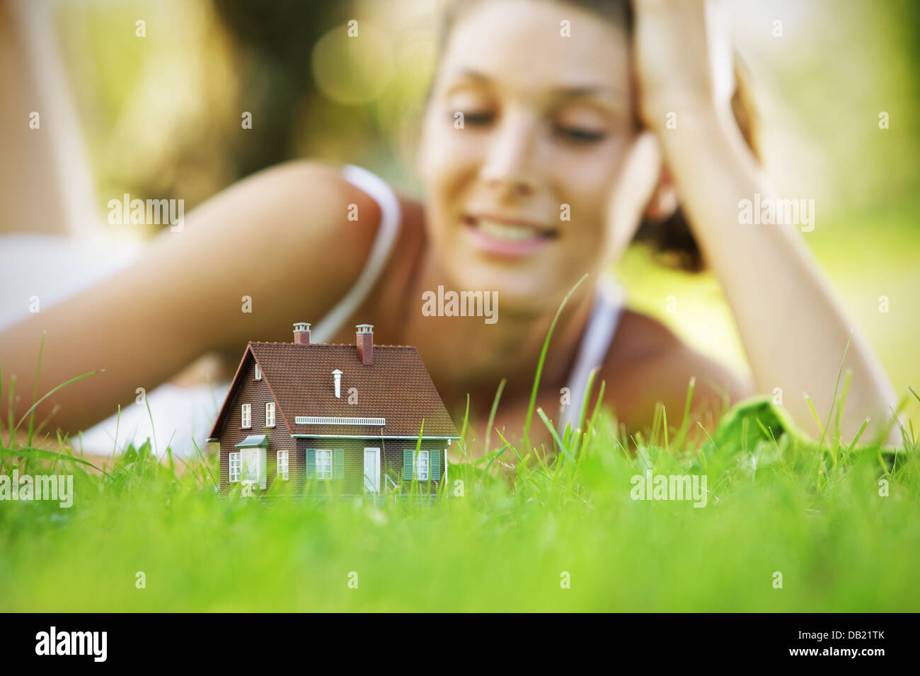 New house - Stock Image