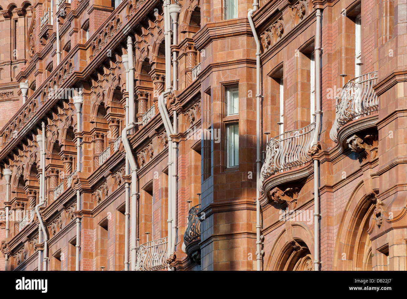 An abstract view of Manchester Midland Hotel in the city centre. - Stock Image
