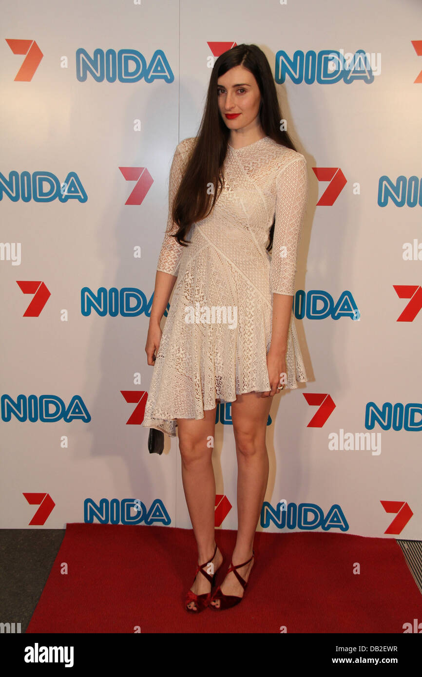 Jessica Power arrives on the red carpet for the annual NIDA Foundation Trust Gala in Sydney, Australia. - Stock Image