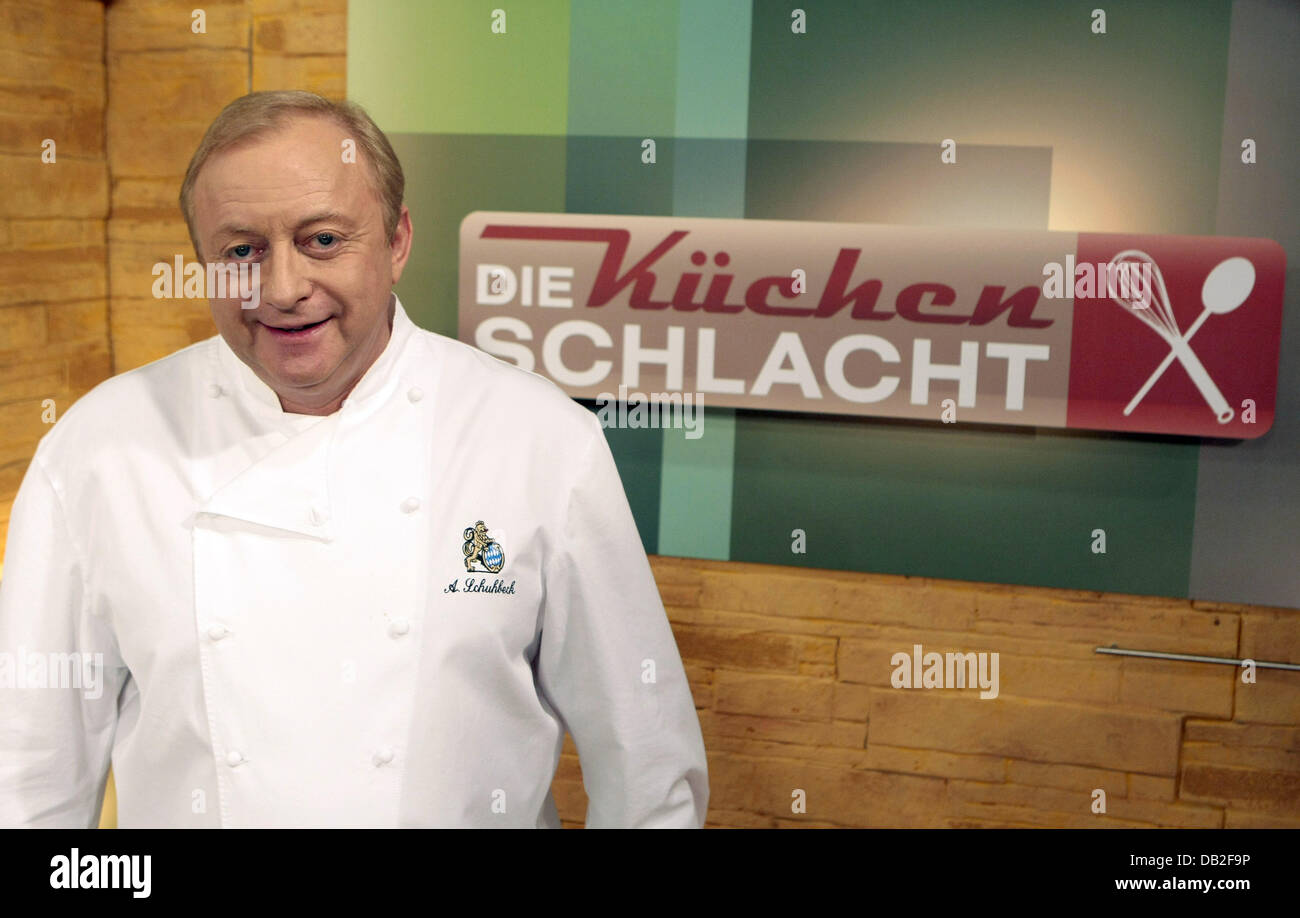 Decorated Star Chef German Alfons Schuhbeck Poses During The Taping