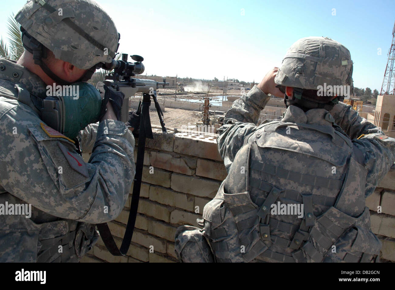 Us Snipers Of The 1st Infantry Division Of The 9th