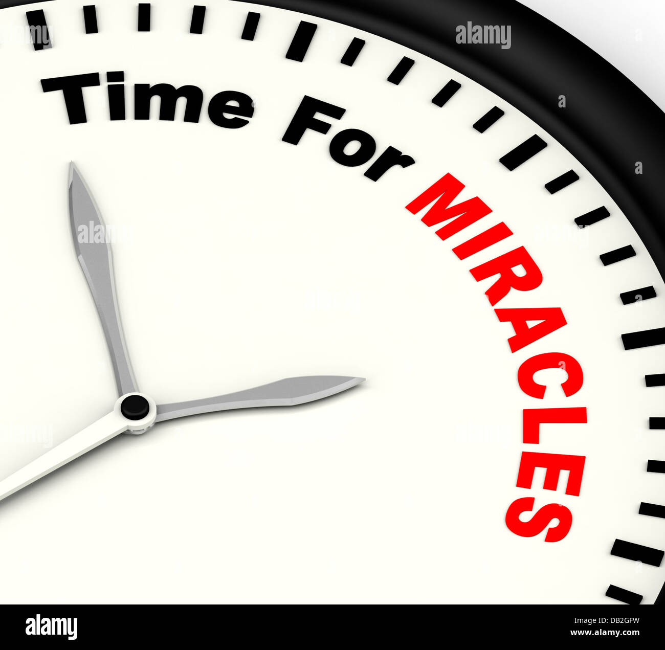 Time For Miracles Message Showing Faith In God - Stock Image